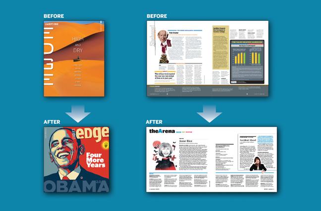 Leader's Edge Magazine Redesigned