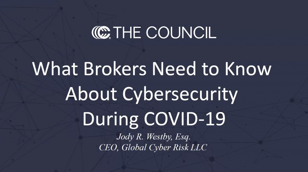 What Brokers Need to Know About Cybersecurity During COVID-19